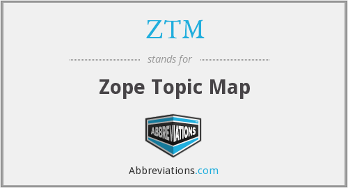 ZTM - Zope Topic Map