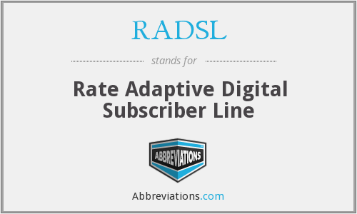 RADSL - Rate Adaptive Digital Subscriber Line