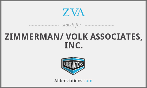 ZVA - ZIMMERMAN/ VOLK ASSOCIATES, INC.