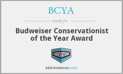 BCYA - Budweiser Conservationist of the Year Award