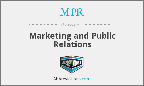 MPR - Marketing and Public Relations
