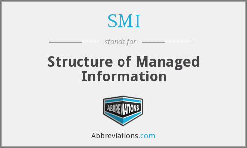 SMI - Structure of Managed Information