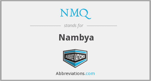 What does NMQ stand for?