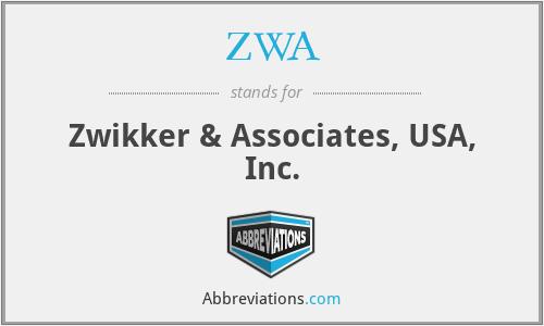 ZWA - Zwikker & Associates, USA, Inc.