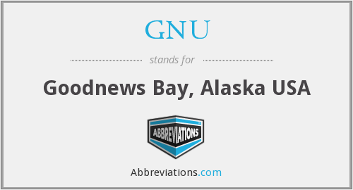 GNU - Goodnews Bay, Alaska USA