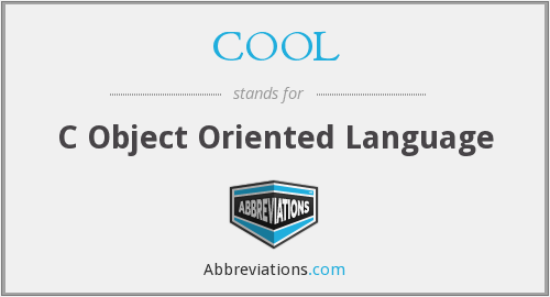 COOL - C Object Oriented Language