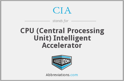 CIA - CPU (Central Processing Unit) Intelligent Accelerator