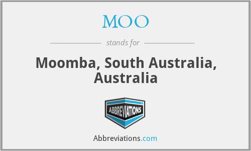 MOO - Moomba, South Australia, Australia