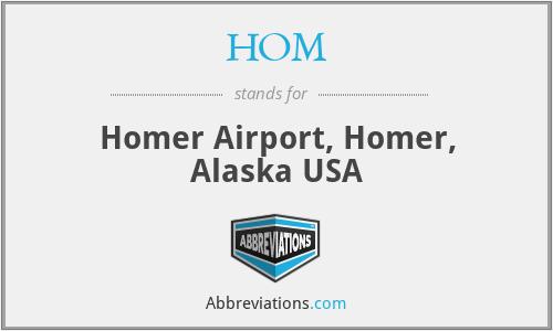 HOM - Homer Airport, Homer, Alaska USA
