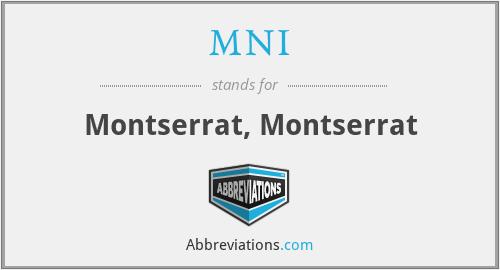 MNI - Montserrat, Montserrat