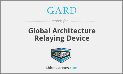 What does GARD stand for?