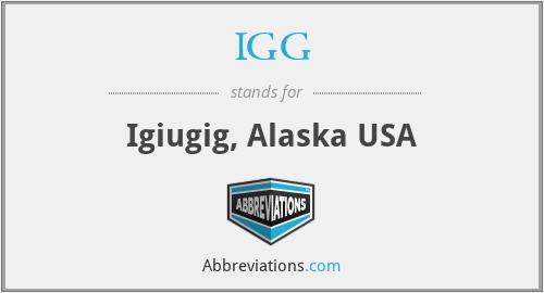 IGG - Igiugig, Alaska USA