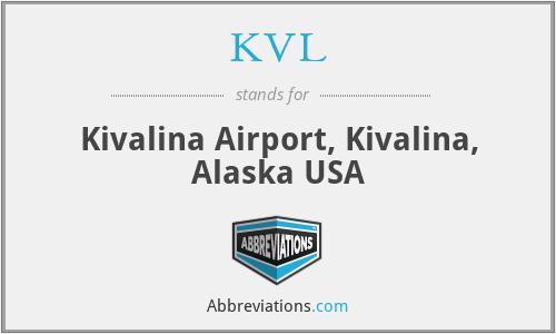 KVL - Kivalina Airport, Kivalina, Alaska USA
