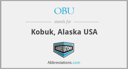 OBU - Kobuk, Alaska USA