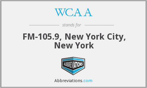 WCAA - FM-105.9, New York City, New York