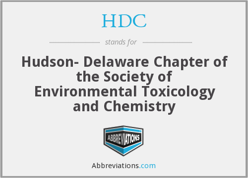 HDC - Hudson- Delaware Chapter of the Society of Environmental Toxicology and Chemistry