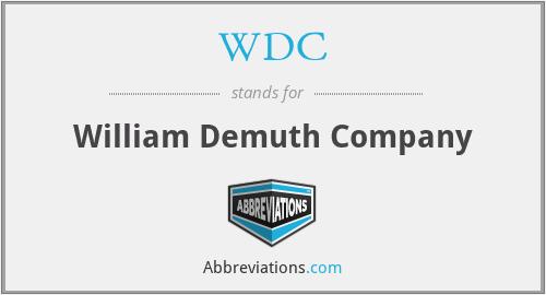 WDC - William Demuth Company
