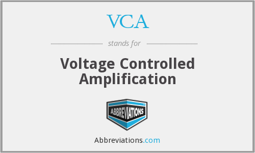 VCA - Voltage Controlled Amplification