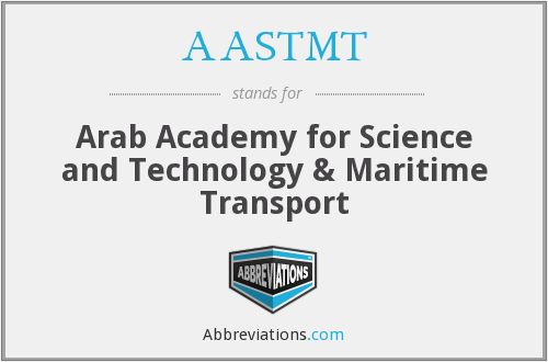 What does AASTMT stand for?