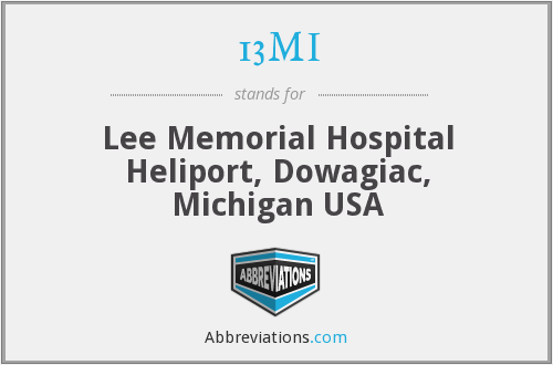 13MI - Lee Memorial Hospital Heliport, Dowagiac, Michigan USA