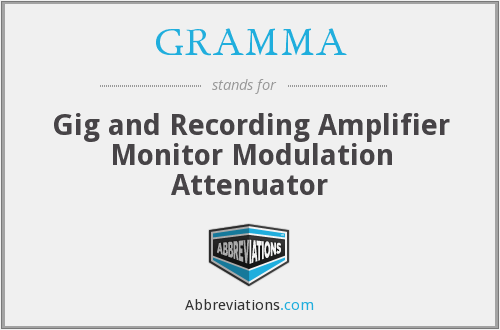 GRAMMA - Gig and Recording Amplifier Monitor Modulation Attenuator