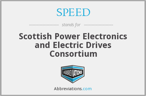 SPEED - Scottish Power Electronics and Electric Drives Consortium