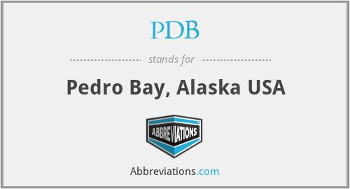 PDB - Pedro Bay, Alaska USA