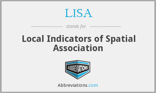 LISA - Local Indicators of Spatial Association