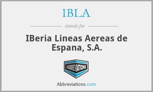 IBLA - IBeria Lineas Aereas de Espana, S.A.