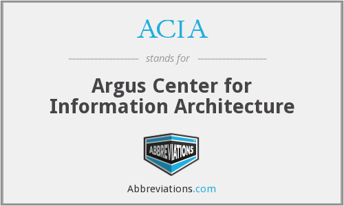 ACIA - Argus Center for Information Architecture