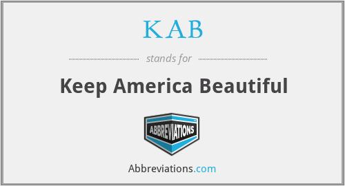 KAB - Keep America Beautiful