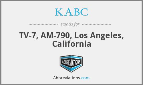 KABC - TV-7, AM-790, Los Angeles, California