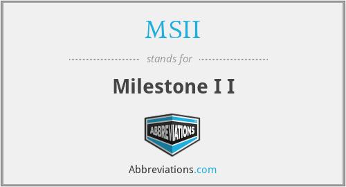 MSII - Milestone I I