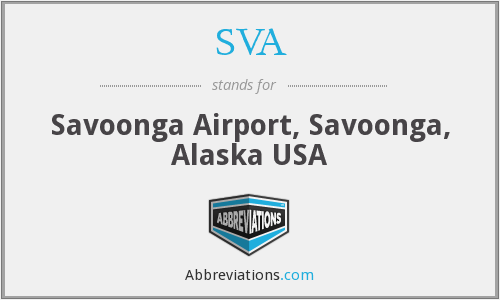 SVA - Savoonga Airport, Savoonga, Alaska USA