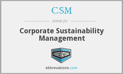 CSM - Corporate Sustainability Management