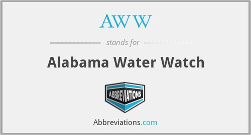 AWW - Alabama Water Watch