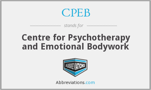CPEB - Centre for Psychotherapy and Emotional Bodywork