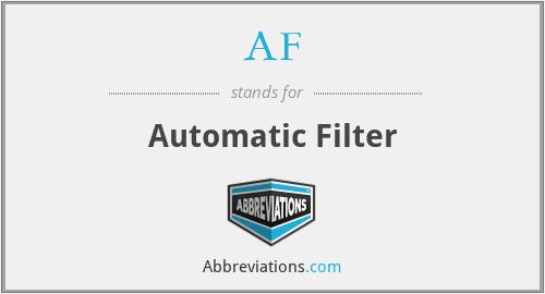 AF - Automatic Filter