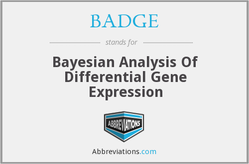 BADGE - Bayesian Analysis Of Differential Gene Expression
