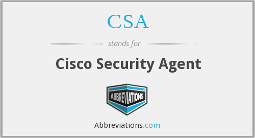 CSA - Cisco Security Agent