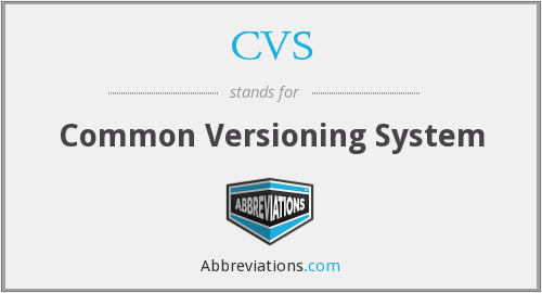 CVS - Common Versioning System