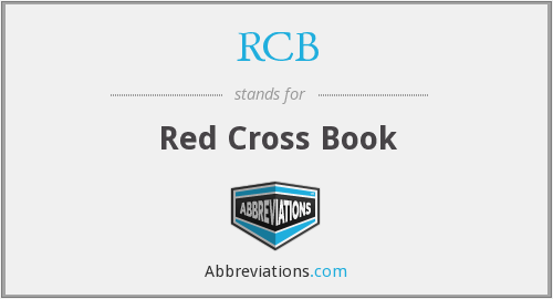 RCB - Red Cross Book