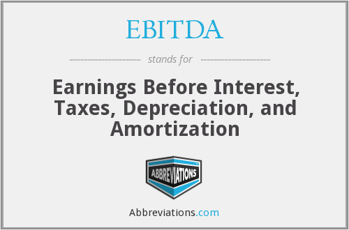 EBITDA - Earnings Before Interest, Taxes, Depreciation, and Amortization
