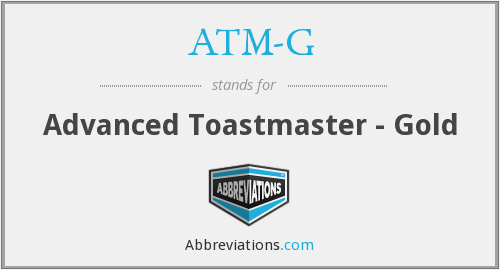 ATM-G - Advanced Toastmaster - Gold