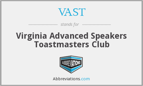 VAST - Virginia Advanced Speakers Toastmasters Club