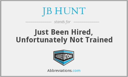 What does JB HUNT stand for?