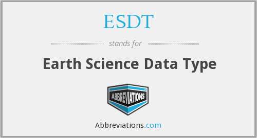 ESDT - Earth Science Data Type