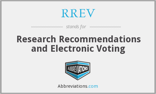 RREV - Research Recommendations and Electronic Voting