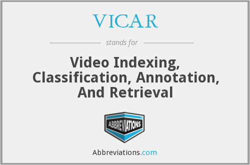 VICAR - Video Indexing, Classification, Annotation, And Retrieval
