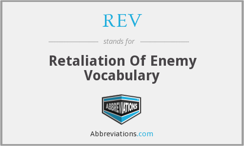 What does retaliation stand for?
